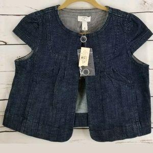 🤑 $10.00 Sale Ann Taylor Womens Vest Petite Small